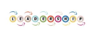 """Führungsstil, Bunte Buchstaben mit Schrift """"Leadership"""""""
